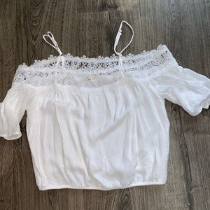 White off shoulder with strap shirt (worn once)